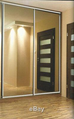 Soft white sliding wardrobe doors. Tailor Made to your measurements