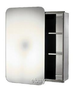 Stainless Steel Sliding Door Bathroom Mirror Cabinet Cupboard Storage, Sanremo
