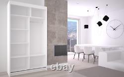 WARDROBE 2 Sliding Doors Furniture, mirror or lacobel glass inserts MRFI120cm