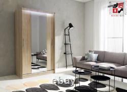 WARDROBE with SLIDING DOORS and FULL MIRROR very MODERN and ELEGANT AVA 4.1