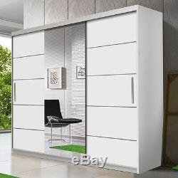 Wardrobe ASTRA 23 Sliding Doors Rails Shelves Mirror New