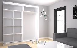 Wardrobe & Mirror, Modern Wardrobe 2 Sliding Doors Bedroom Furniture MRMA 200cm