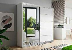 Wardrobe VISTA 05 Fast Delivery Sliding Doors Rails Shelves Mirror New