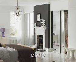 White Frame Mirror Sliding Wardrobe Door Basix Kit 91.4cm