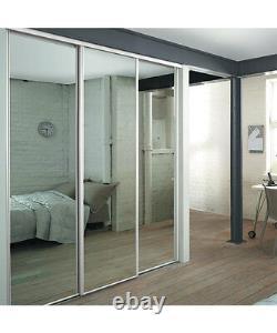 White Frame Mirror Sliding Wardrobe Doors Kit Free Delivery 5 Kit Sizes